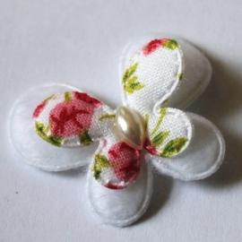 stoffen dubellaagse vlinder wit gebloemd