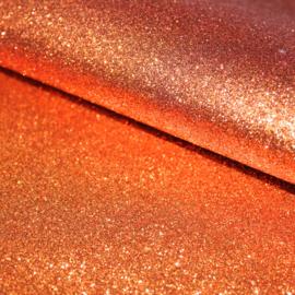 Lapje glitter pu leer roest oranje (A4)
