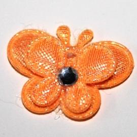 Vlinder dubbellaags klein oranje / zalm p/s