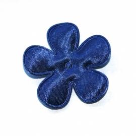35mm satijn bloem konings blauw