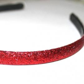 Diadeem Glitter rood 12mm