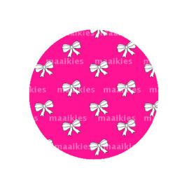 (FB583) strikjes fuchsia roze groot