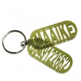 Acryl naam sleutelhanger en of sos hanger