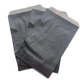 Kadozakje kraft  zwart 12x18cm (5stuks)