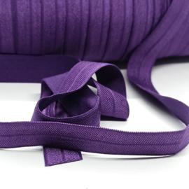 haarband elastiek donker paars 15mm