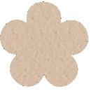 Acryl vilt beige 45cm bij 30cm