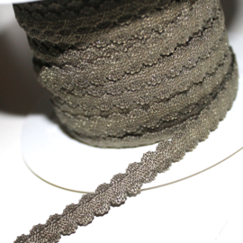 Heel lief haarband elastiek 7mm breed mos leger groen