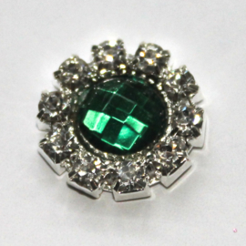 Strass flatback 14mm groen