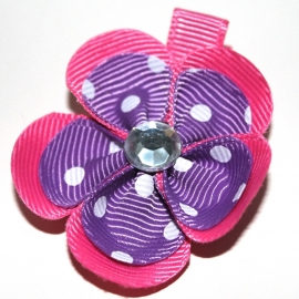 Lokspeldje bloem felroze paars dor