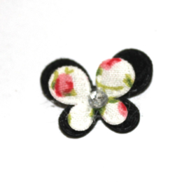 Mini dubbellaags vlinder zwart