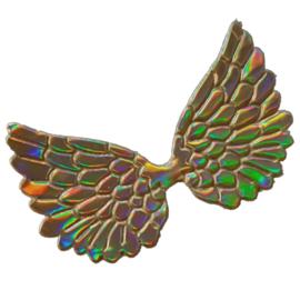 Engelen vleugel pu leer goud holografische glans