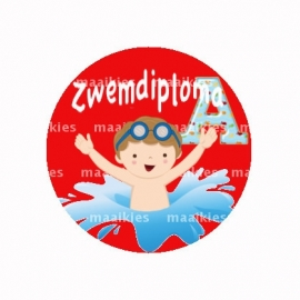 (FB511) zwemdiploma jongen A rood