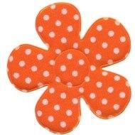 Polkadot bloem oranje 47mm