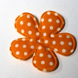 35mm polkadot bloem oranje