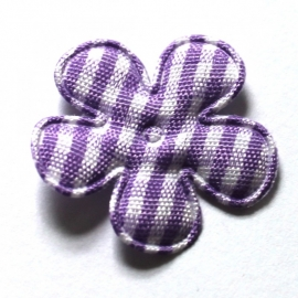 25mm ruit bloem lila 10 stuks
