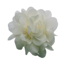 chiffon bloem licht creme 7cm