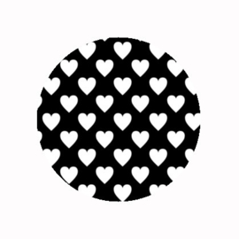 FB850 hartjes zwart wit