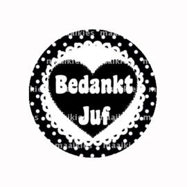(FB817) BEDANKT JUF ZWART