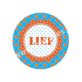 (FB81) LIEF oranje/blauw