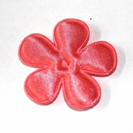 35mm satijn bloem Coral