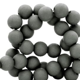 Acryl kralen 8mm donker grijs 50 stuks