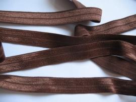 haarband elastiek donker bruin 15mm