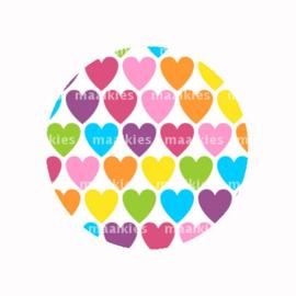 FB736 regenboog hartjes