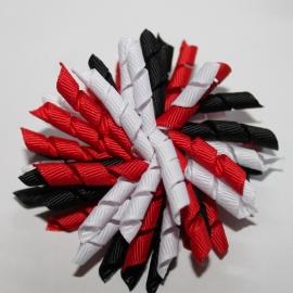 Krullies (fijntjes) rood wit zwart