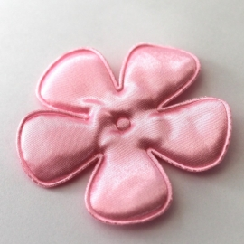 65mm roze satijn bloem