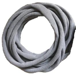 Super soft dunne nylon haarbandje muisgrijs