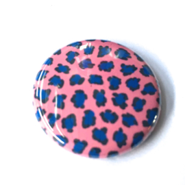 (FB900) leopard framboos / cobalt