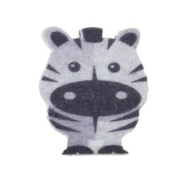 vilt patch bedrukt zebra