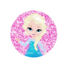 (FB934) Elsa roze glitter