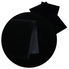 lapje fluweel zwart a4