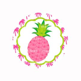 (FB642) roze ananas roze palmboom
