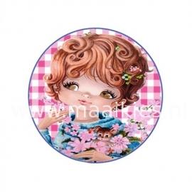 (FB110) bloemenmeisje rozeruit