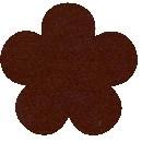 Acryl vilt bruin 45cm bij 30cm