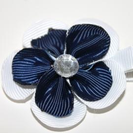 Lokspeldje bloem wit navy