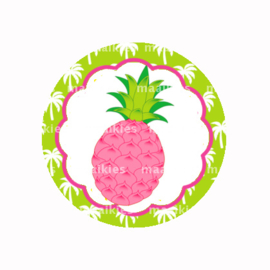 (FB641) roze ananas lime