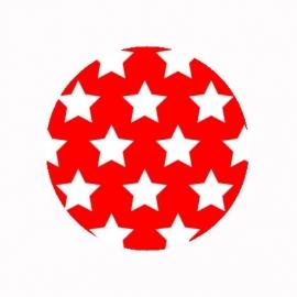 (FB491) sterren rood