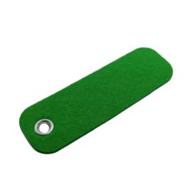 Sleutelhanger vilt rechthoek groen  (23)