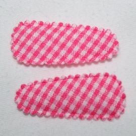 roze ruit hoesje (3,5cm)
