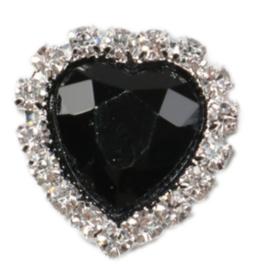 Strass flatback hart zwart