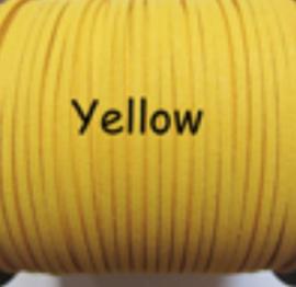 Suède veter geel