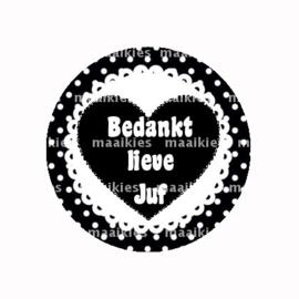 (FB818) BEDANKT LIEVE JUF ZWART