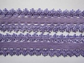 haarband elastiek kant lila 18mm