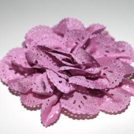 Bloem met gaatjes oudroze (8cm)