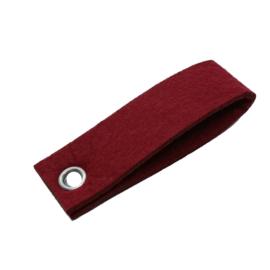 sleutelhanger vilt dubbele rechthoek Donker rood (31)