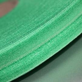 GroenHaarband elastiek / biasband 15mm breed