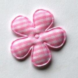 35mm  gingham ruit bloemen roze